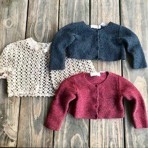 Zara Mini bundle of baby cardigan sweaters